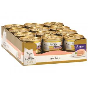 Gourmet Gold Chat Mousseline au Saumon Senior +7 FIN DE STOCK