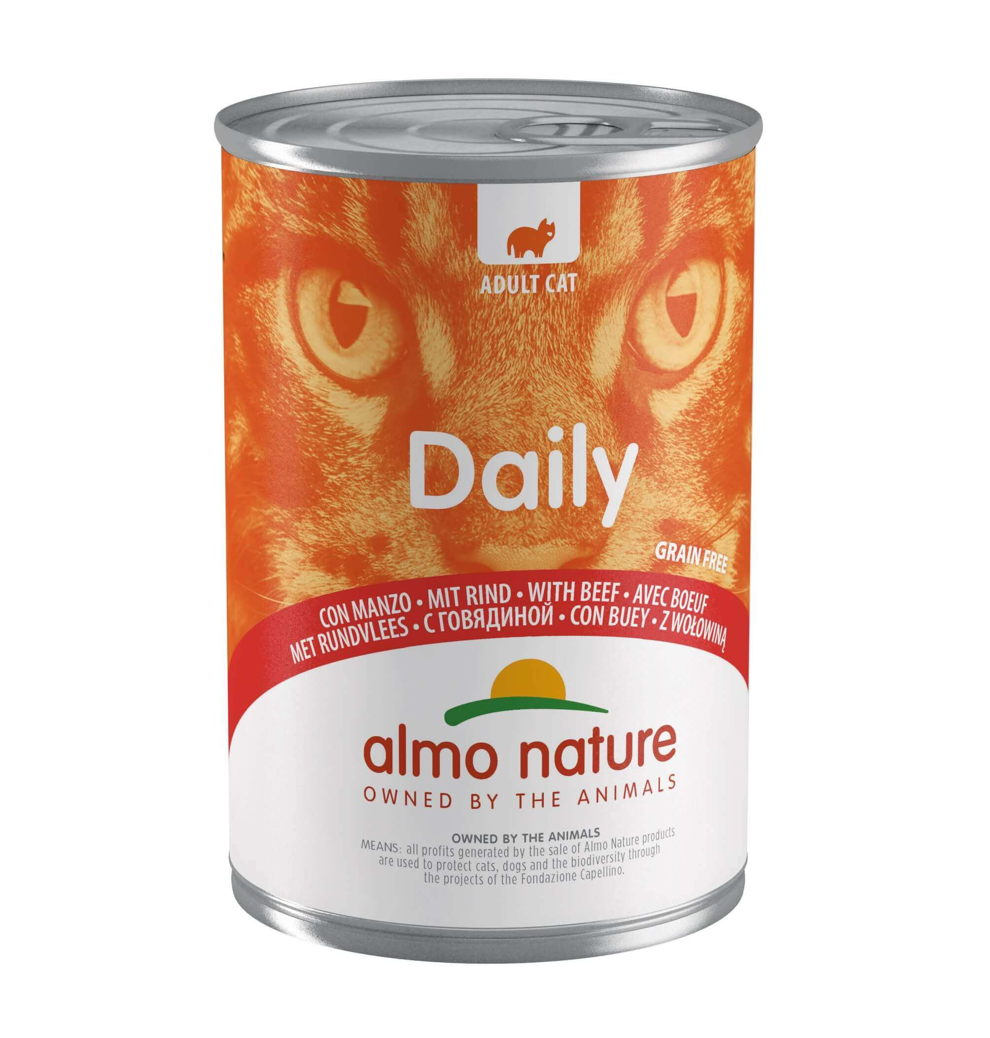 Almo Nature Daily Boeuf 400g pour chat