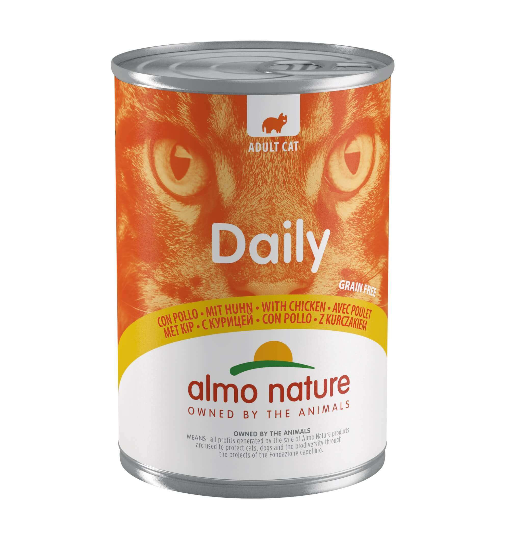 Almo Nature Daily Poulet 400 grammes pour chat