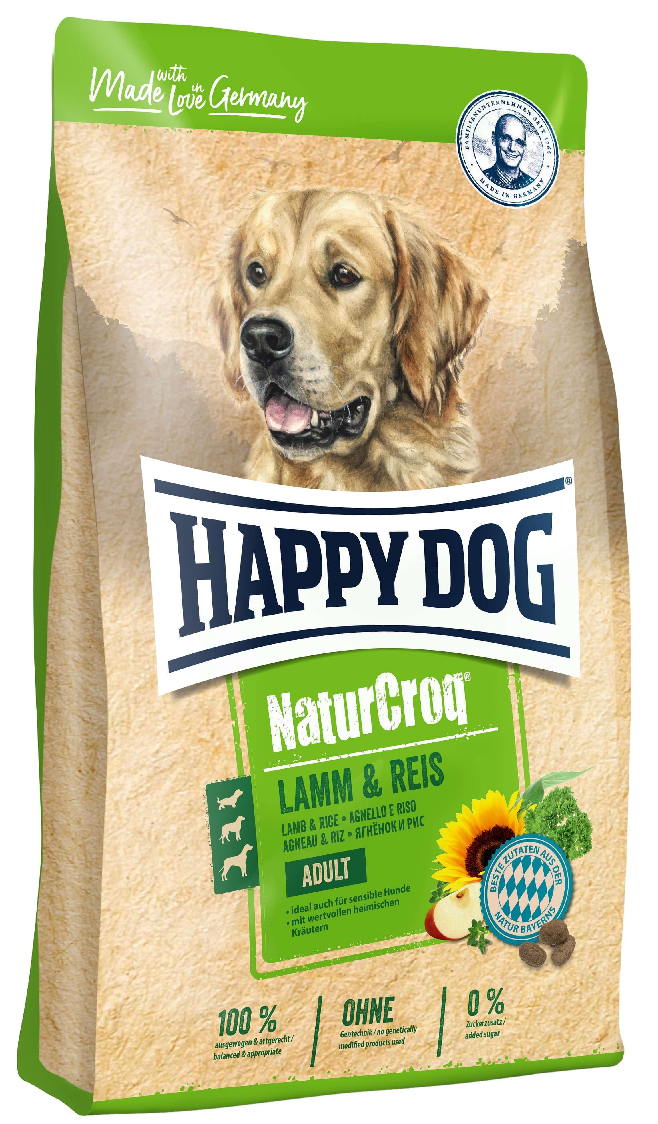 Happy Dog NaturCroq Agneau Riz pour chien