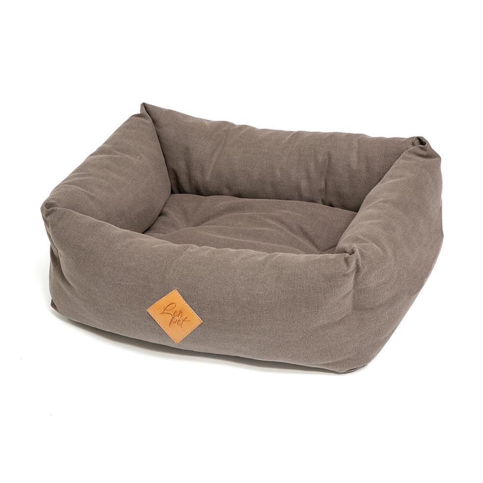 Elba Chien Panier gris / marron (taupe)