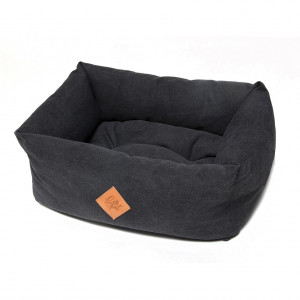 Elba panier de chien Noir