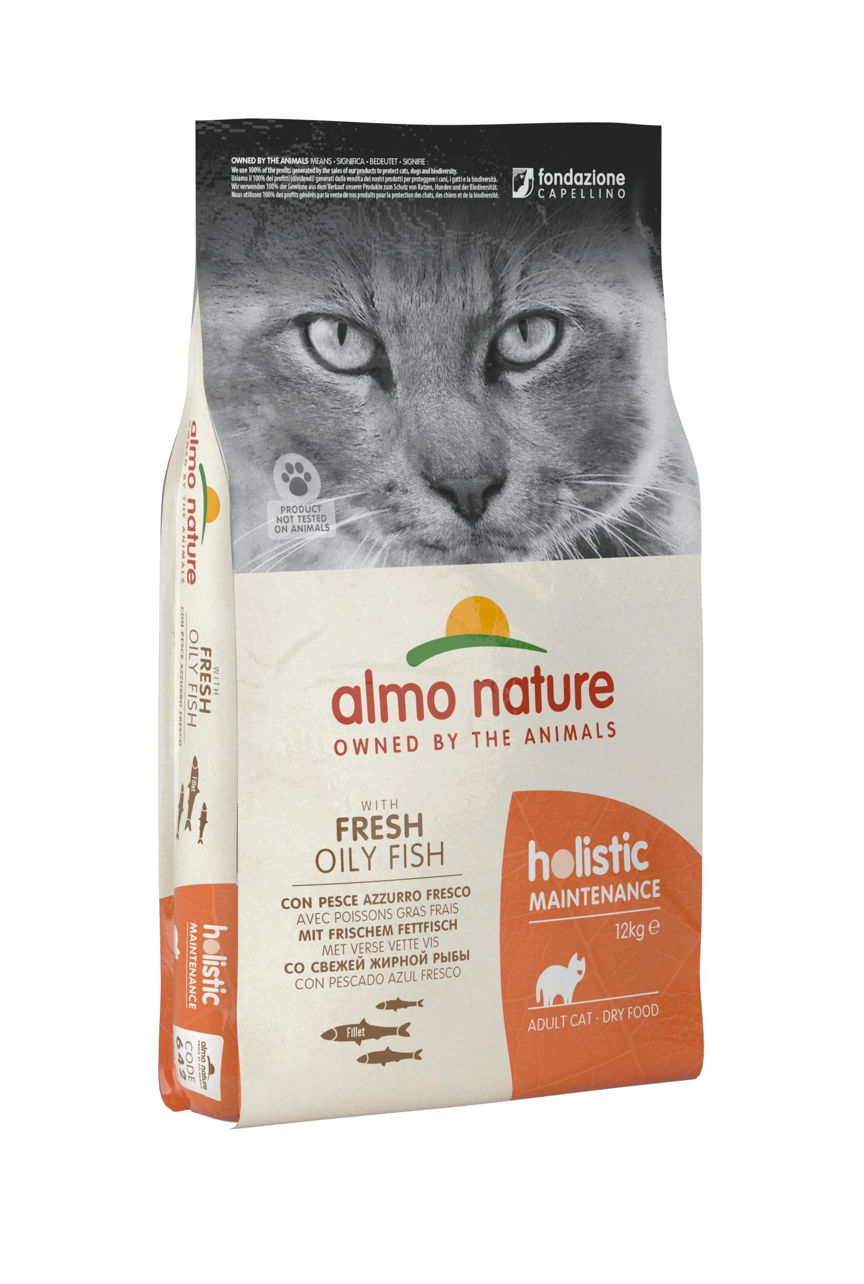 Almo Nature Holistic Chat Adulte poissons gras et  riz