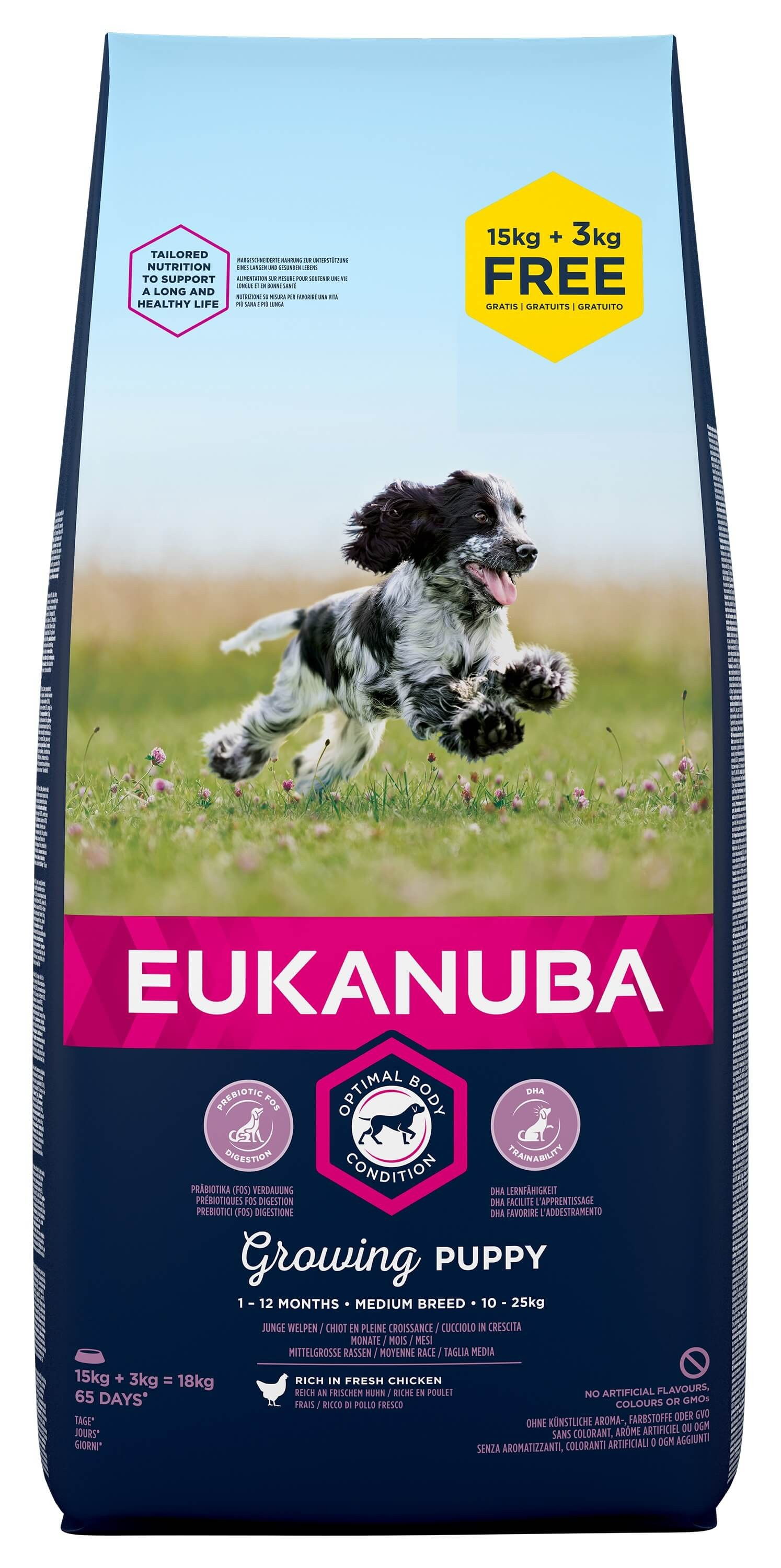 Eukanuba Growing Puppy Medium Breed au poulet pour Chiot