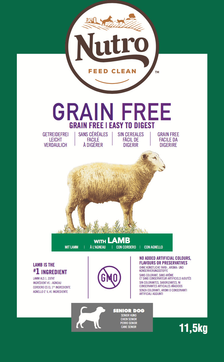 Nutro Grain Free Senior Lam hondenvoer