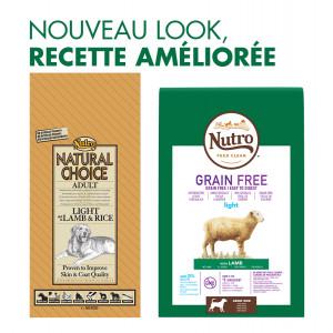 Nutro Choice Chien Adulte Light, agneau et riz