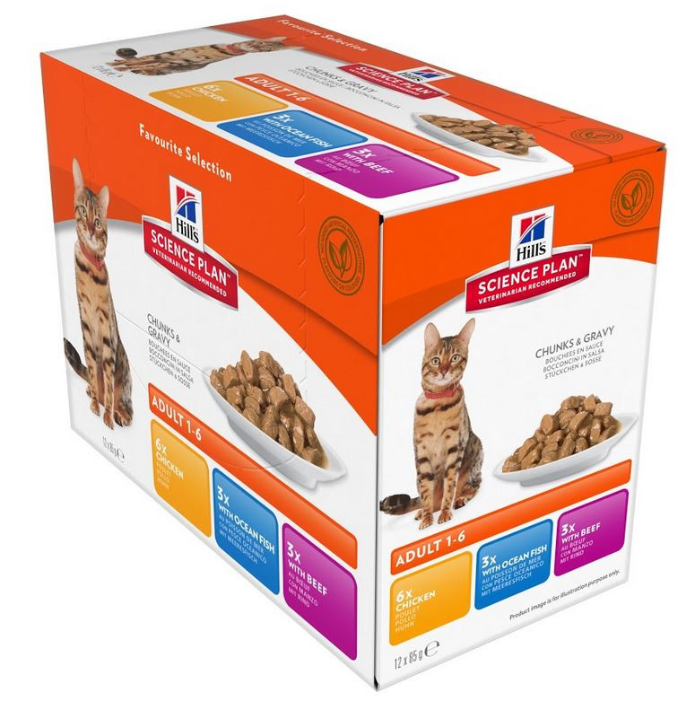 Hill's Optimal Care Sachet Adult Favourite Selection pour Chat