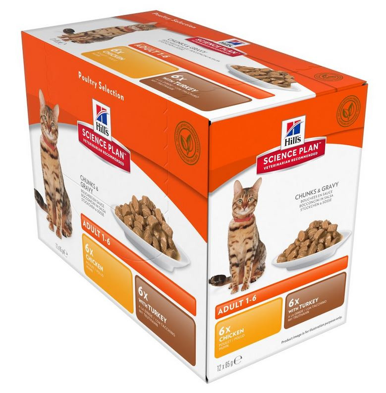 Hill's Optimal Care Sachet Adult Poultry Selection pour Chat