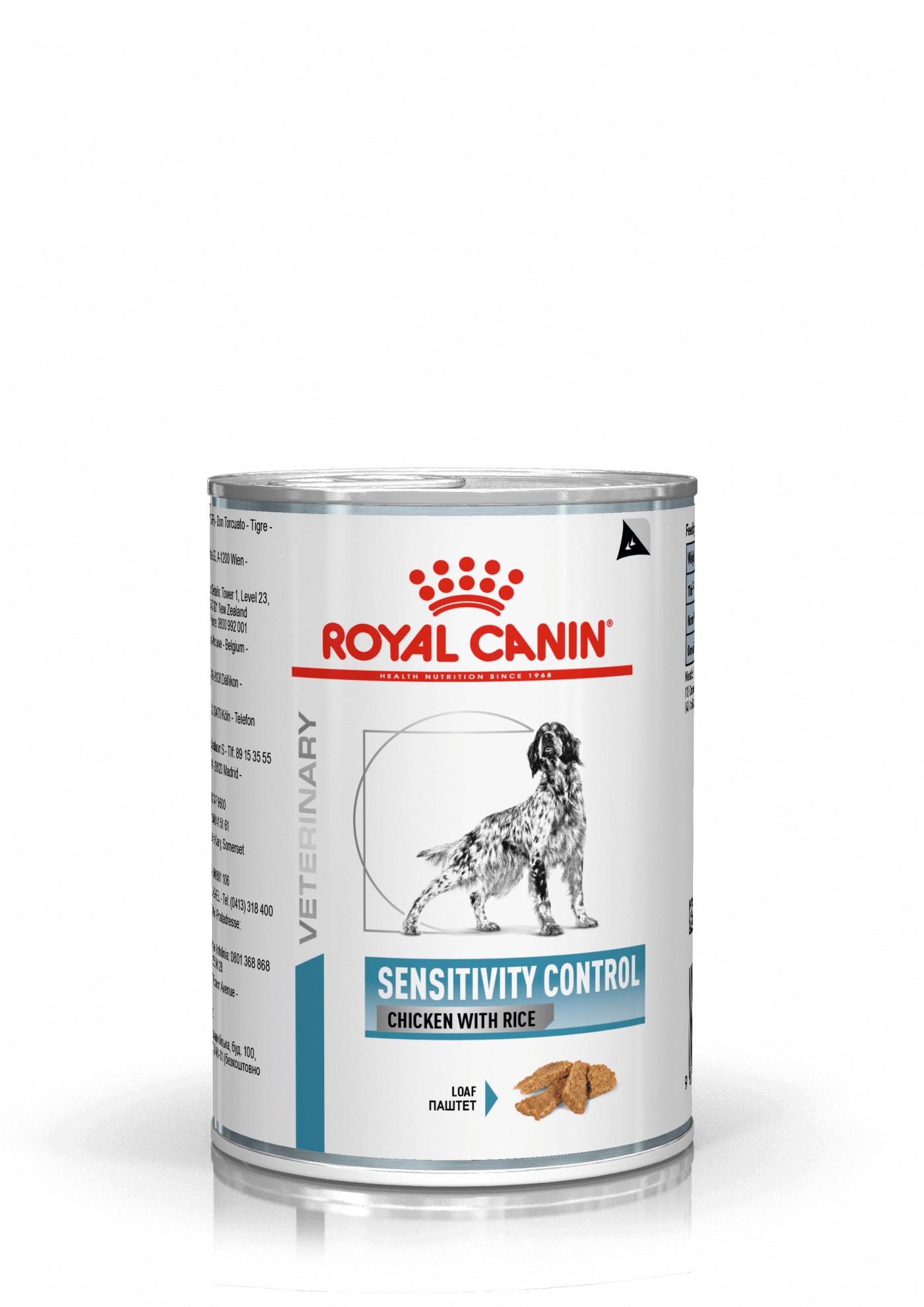 Royal Canin Veterinary Sensitivity Control poulet & riz conserve pour chien