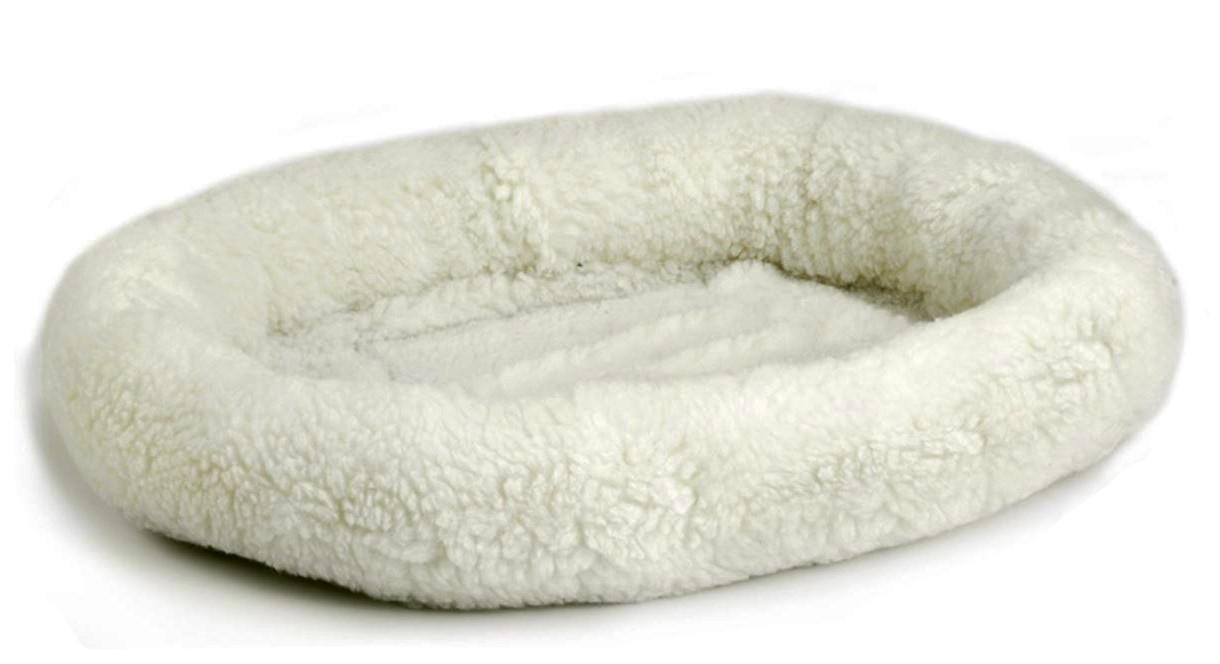 Panier en peluche mouton pour chat
