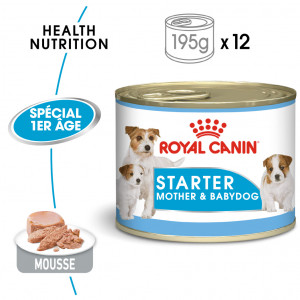 Royal Canin Starter Mousse Mother & Babydog 195 gr blik hond