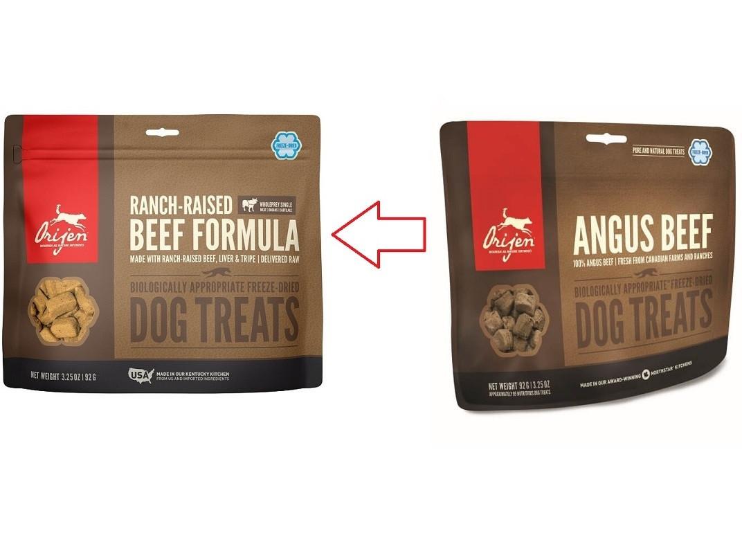 Orijen Ranch-Raised Beef Dog Treats pour chien