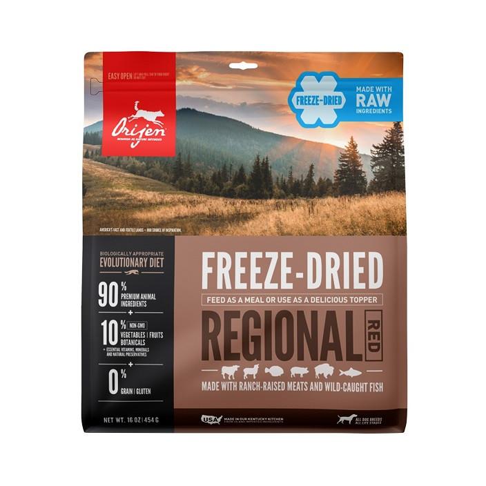 Orijen Freeze-Dried Regional Red pour chien