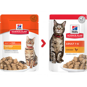 Hill's Optimal Care Adult Poulet Sachet Chat