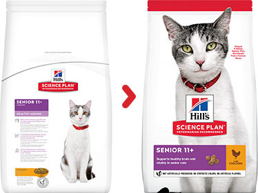 Hill's Senior 11+ Healthy Ageing pour Chat