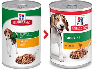 Hill's Puppy pâtée au poulet pour chiot (boîte 370 g)