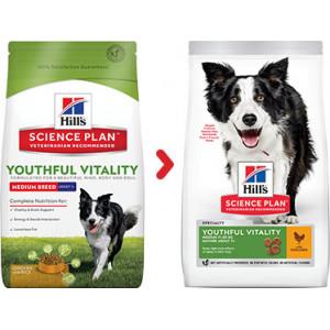 Hill's Mature Adult Senior Vitality Medium au poulet pour chien
