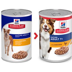 Hill's Mature Adult pâtée pour chien au poulet (boîte 370g)