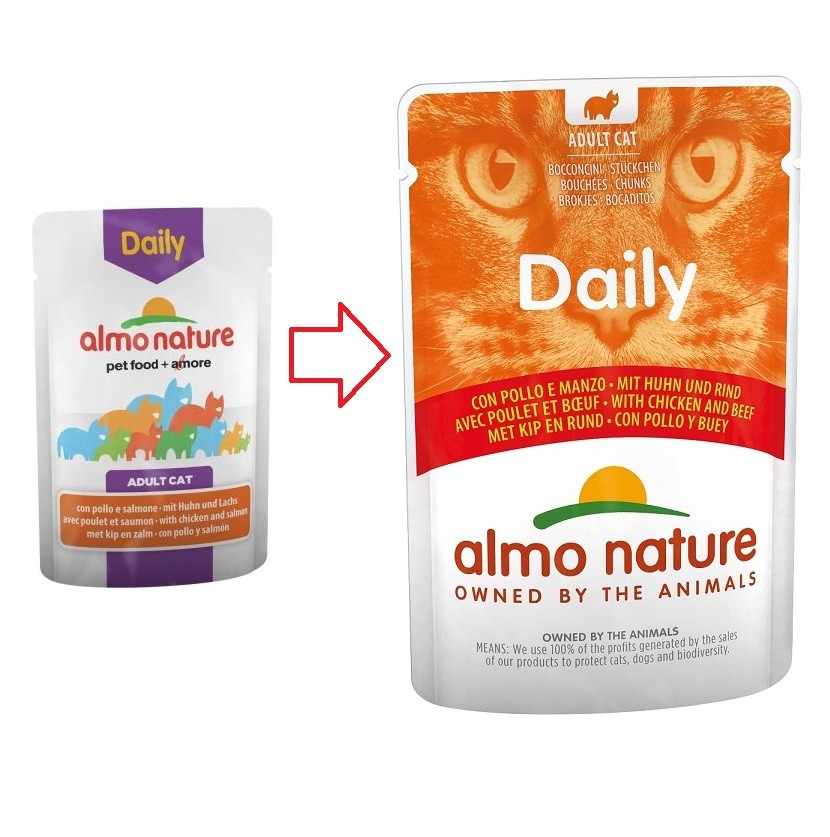 Almo Nature Daily Boeuf Poulet 70g