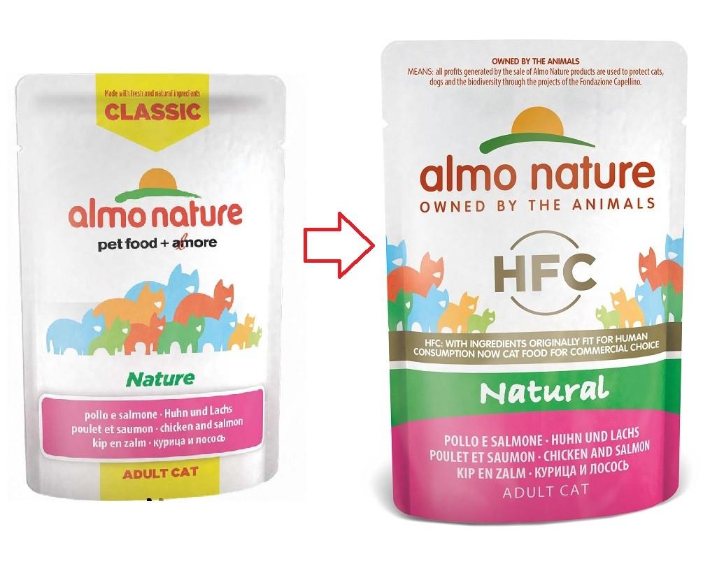 Almo Nature Classic Nature Poulet Saumon 55g pour chat
