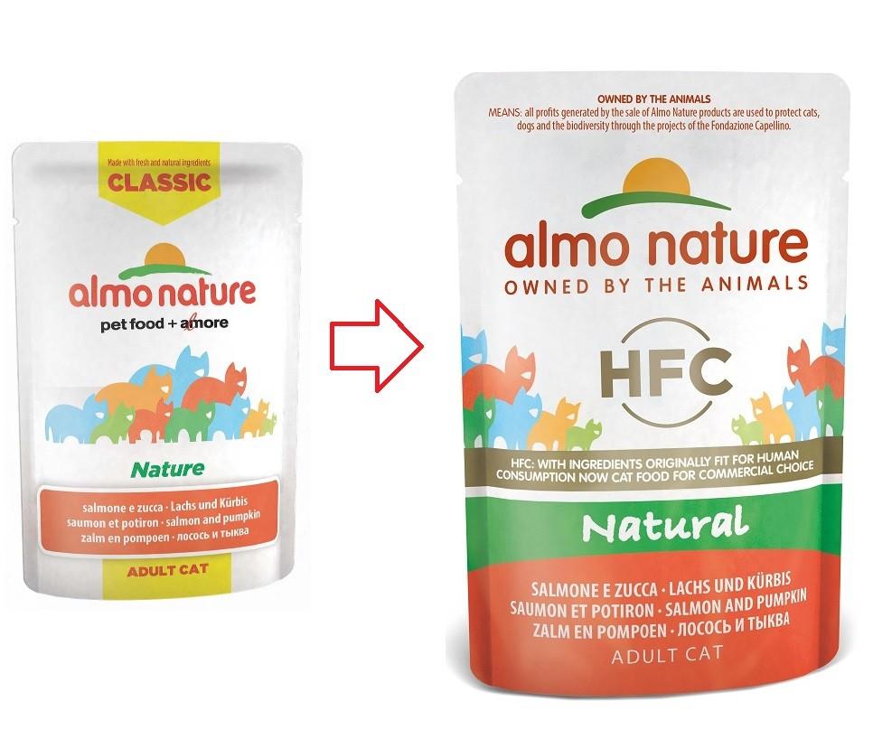 Almo Nature Classic Nature Saumon Potiron 55g pour chat