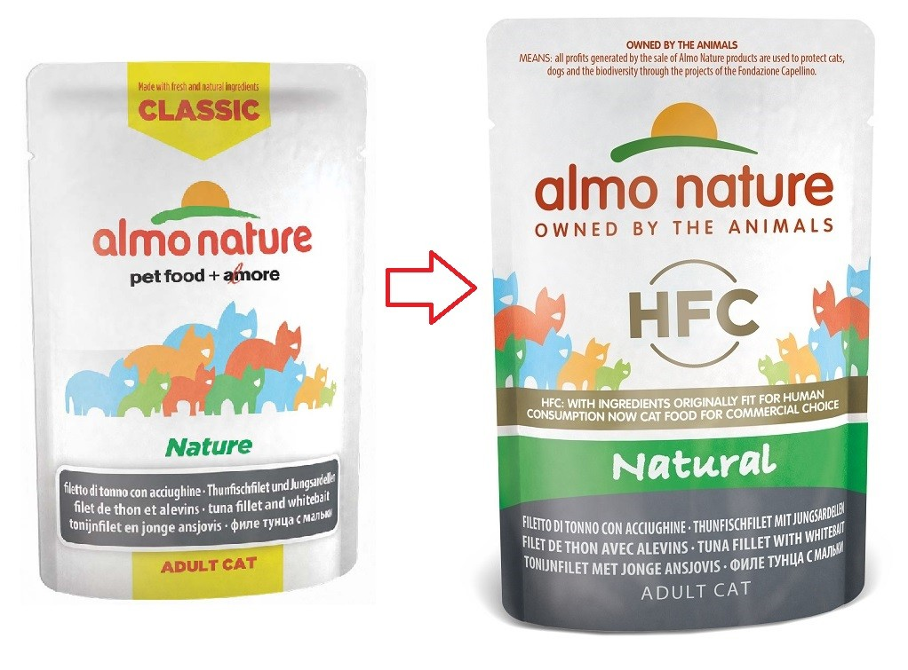 Almo Nature Classic Nature Thon Anchois 55g pour chat