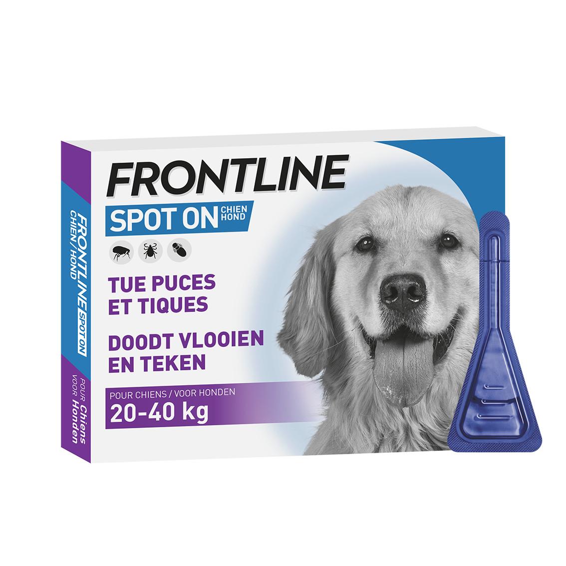 Frontline Spot On pour chien  20 - 40 kg / L