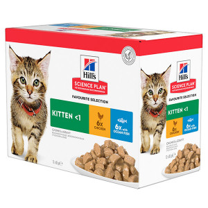 Hill's Sachet Kitten Classic Selection Poulet & Poisson pour Chaton