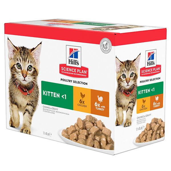 Hill's Sachet Kitten Poultry Selection pour Chaton