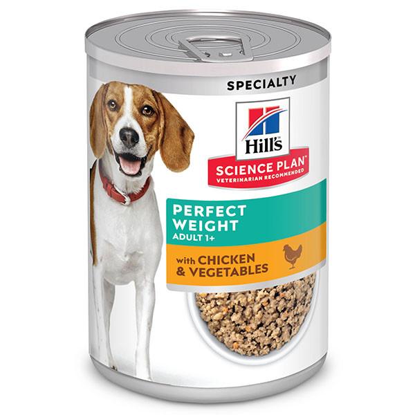 Hill's Adult Perfect Weight pâtée pour chien (boîte 363g)
