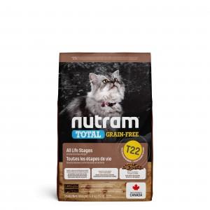 Nutram Sans Graines, Dinde, Poulet & Canard T22 Chat