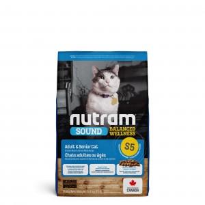 Nutram Sound Balanced Welness Chat Adulte & Senior S5