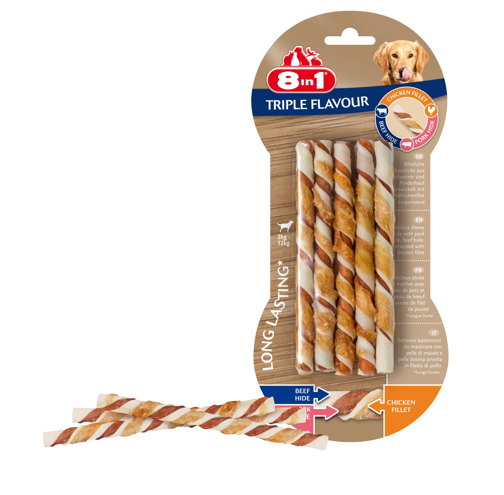 8in1 Triple Flavour sticks hondensnacks