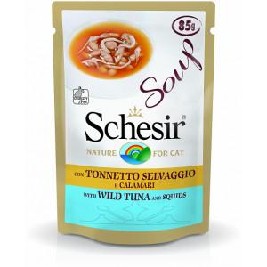 Schesir Cat Soup Wilde Tonijn & Inktvis