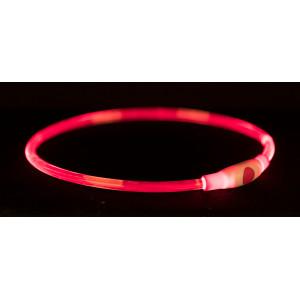 Flash lichthalsband 65 cm rood voor de hond