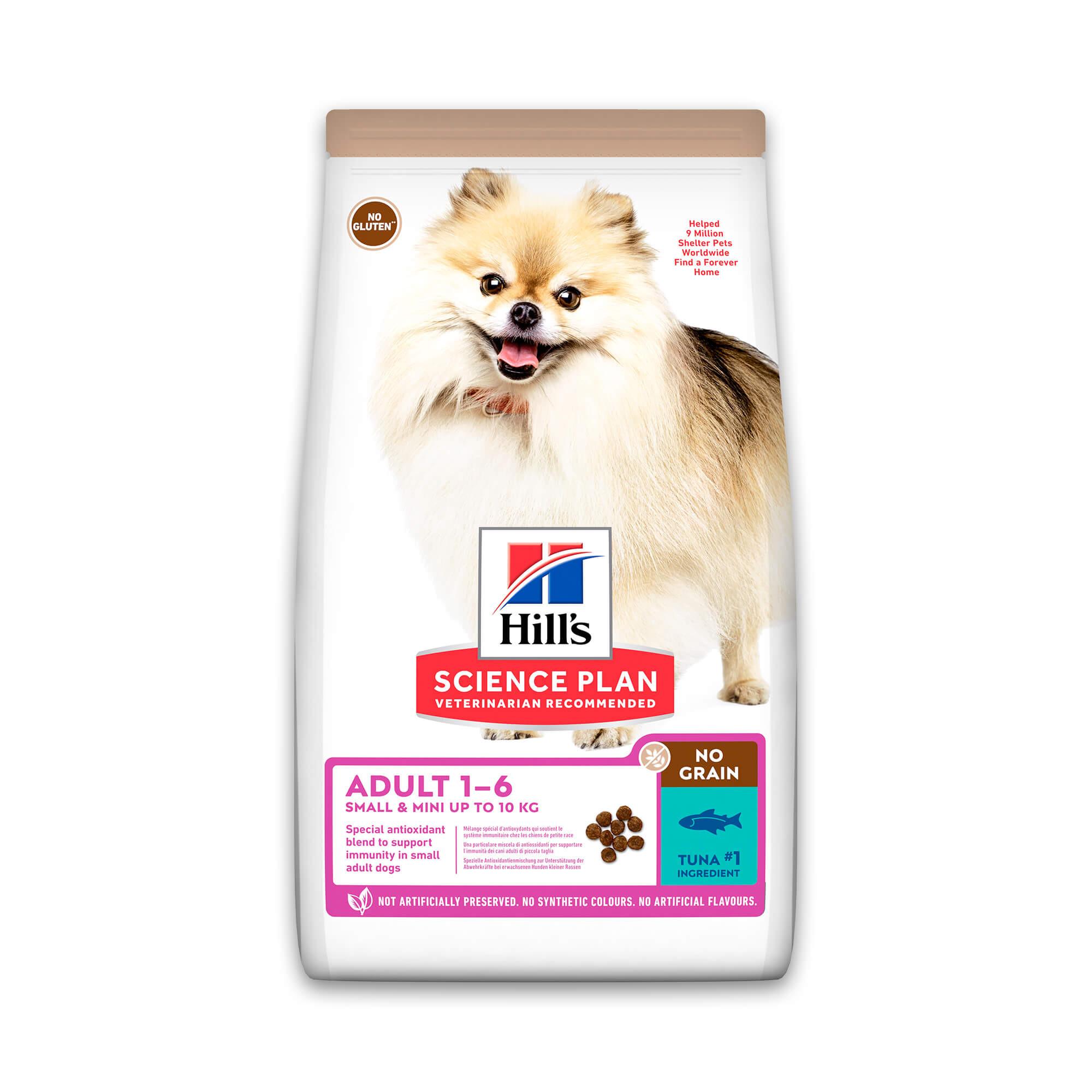 Hill's Adult Small & Mini No Grain met tonijn hondenvoer