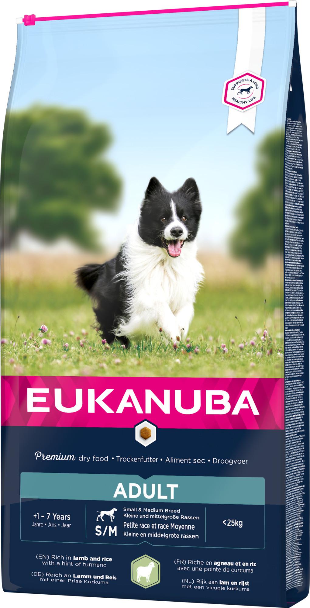 Eukanuba Adult Small Medium Breed agneau riz pour chien