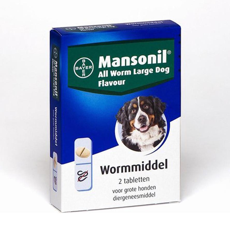 Mansonil All Worm Large Dog Flavour voor de hond