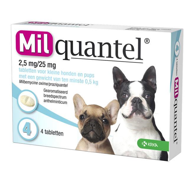 Milquantel tabletten voor de hond