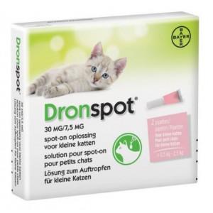 Dronspot 30 mg/7,5 mg Spot-on oplossing voor katten (0,5 - 2 kg)