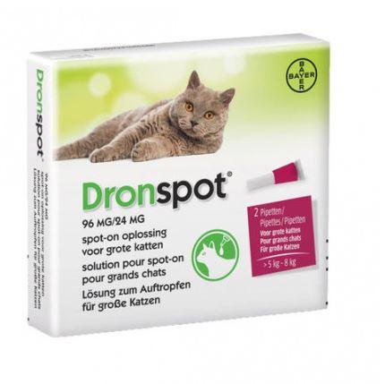 Dronspot 96 mg/24 mg Spot-on oplossing voor katten (5- 8 kg)