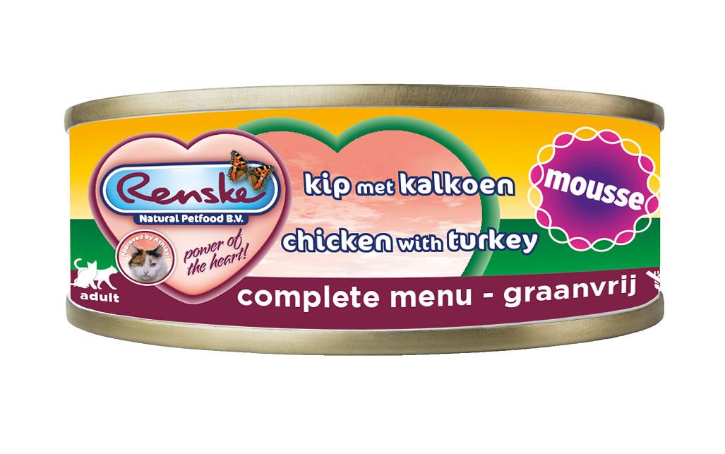 Renske mousse au poulet & dinde pour chat (70 gr)
