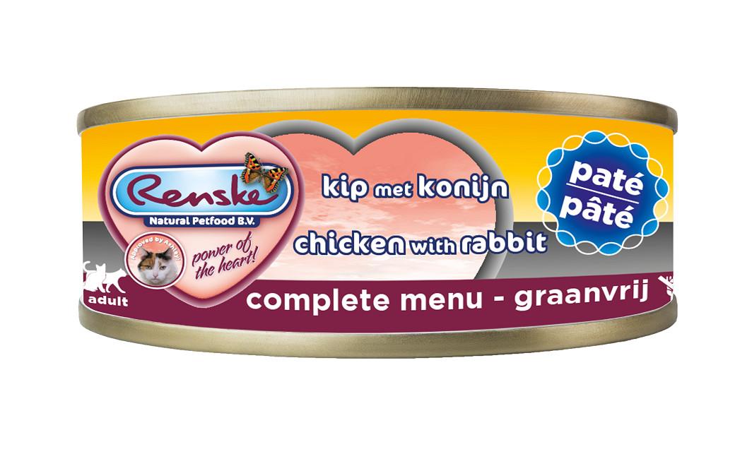 Renske pâtée de poulet et de lapin pour chat (70 gr)