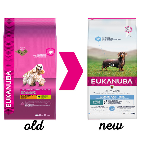 Eukanuba Daily Care Adult Weight Control Small/Medium pour chien