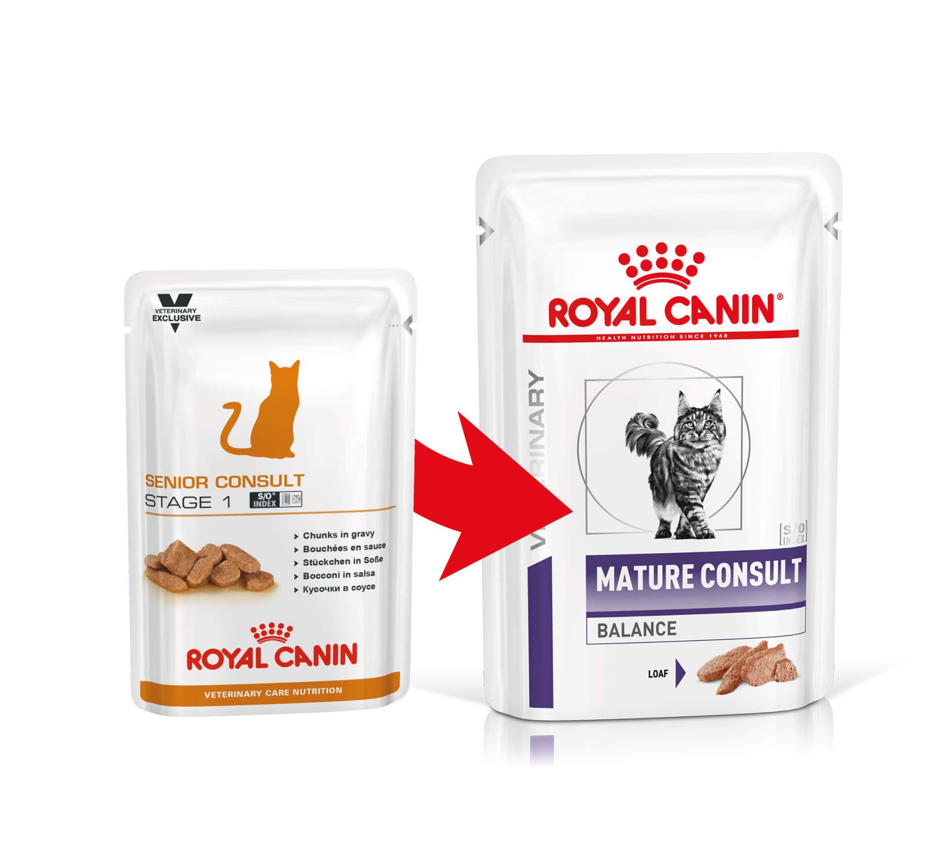 Royal Canin Veterinary Mature Consult Balance pâtée pour chat (85 gr)