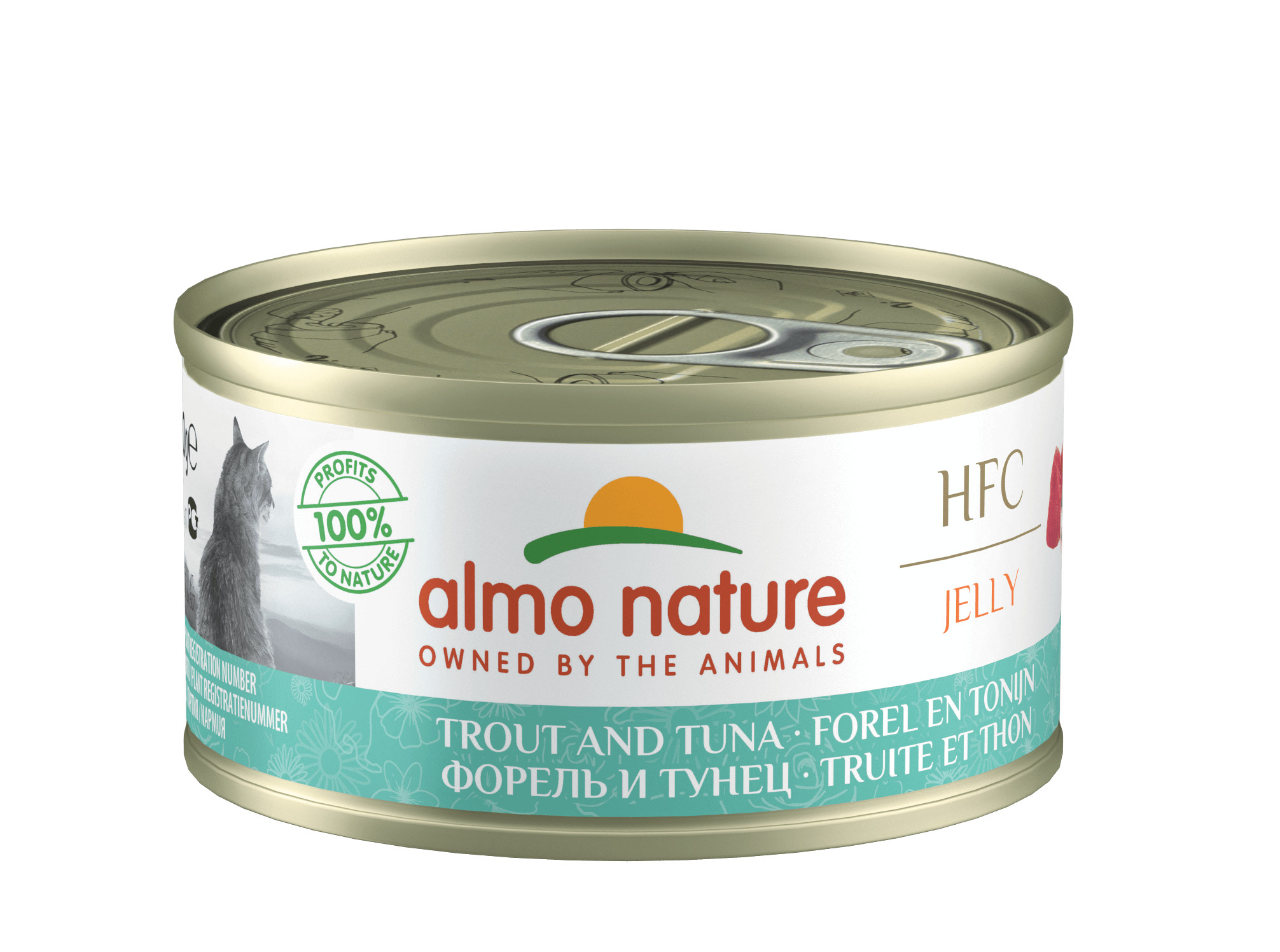 Almo Nature HFC Jelly Thon et Truite pour chat