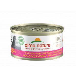 Almo Nature HFC Jelly Saumon et Poulet pour Chat