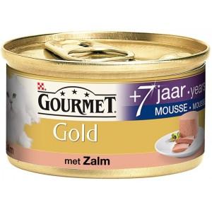 Gourmet Gold Chat Mousseline au Saumon Senior +7