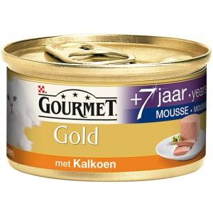 Gourmet Gold Chat Mousseline à la Dinde Senior +7